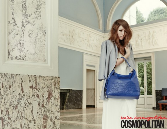 Lee Min Jung a work of art in the September 2014 issue of Cosmopolitan