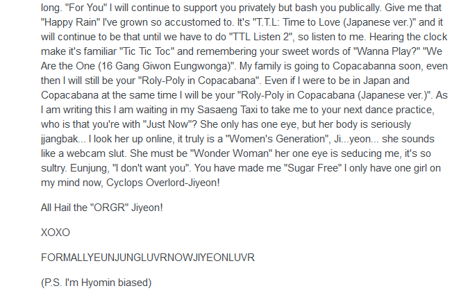 Comment Of The Day: Inspired by EXO-L, a T-ara fan writes a