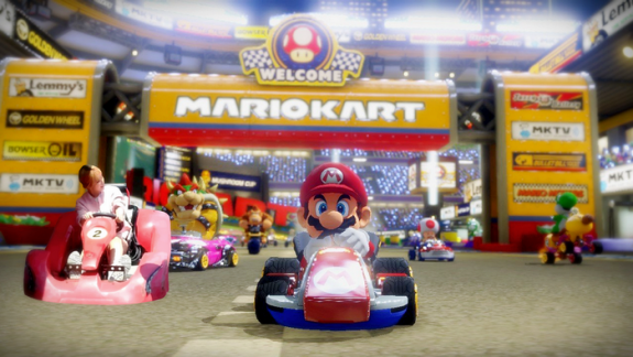 DID YOU KNOW -- After collecting 120 stars in Mario Kart 8 you are able to challenge Choa to a special drift race.