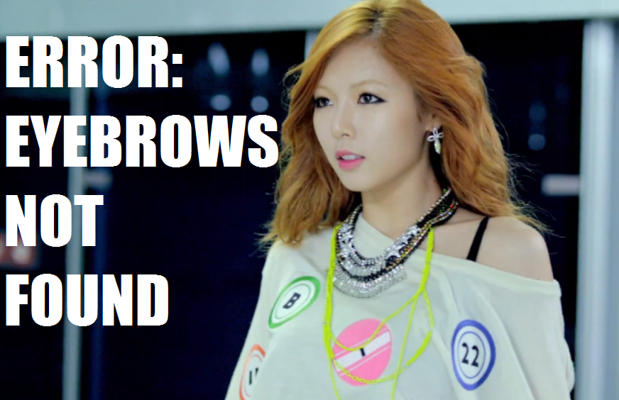 HyunANoEyebrows