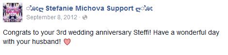 StephanieMichovaMarriedAnniversary