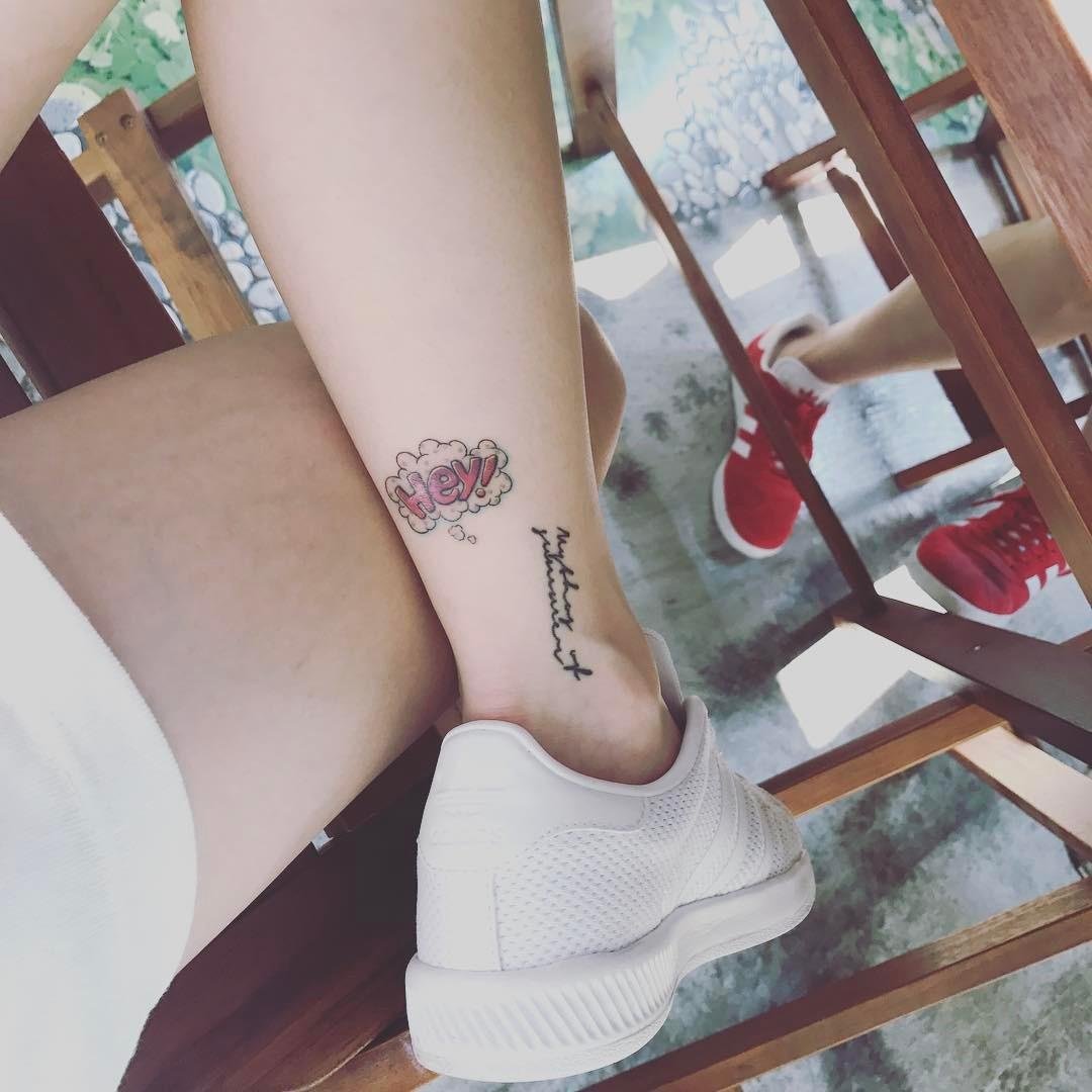 "AOA's Jimin Has A ""Hey"" Tattoo Now So Here's Supercut"