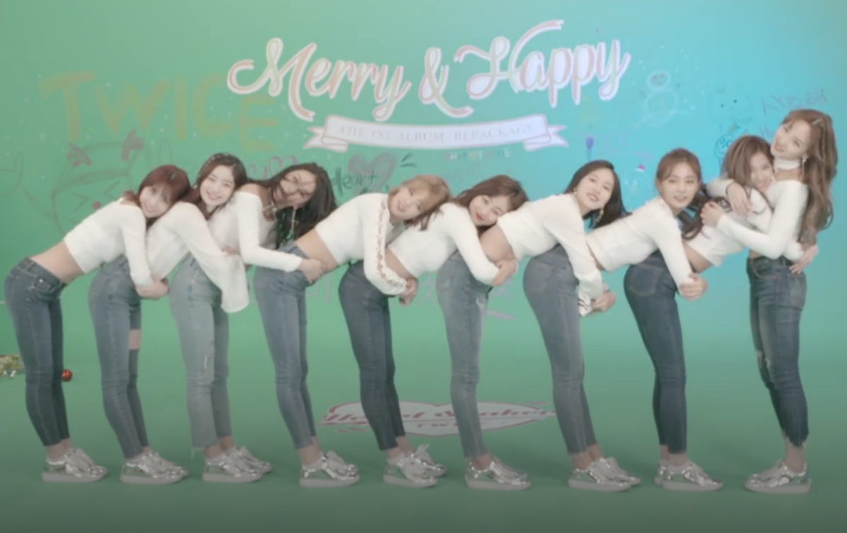 Twice does heart shaker choreo on v live in blue jeans and white because twice loves us they gave us a nice christmas present for the release of heart shaker by performing the choreo to the song on v live in jeans and stopboris Image collections