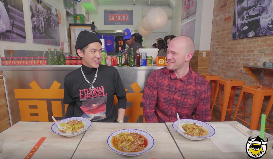 Kris schools Sean Evans in Chinese food on First We Feast
