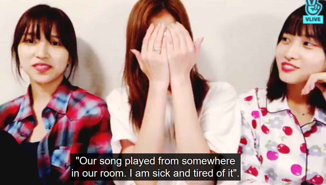 Sana being done with fan aegyo requests, TWICE songs, and