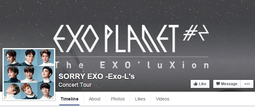EXOSorryFacebookPage