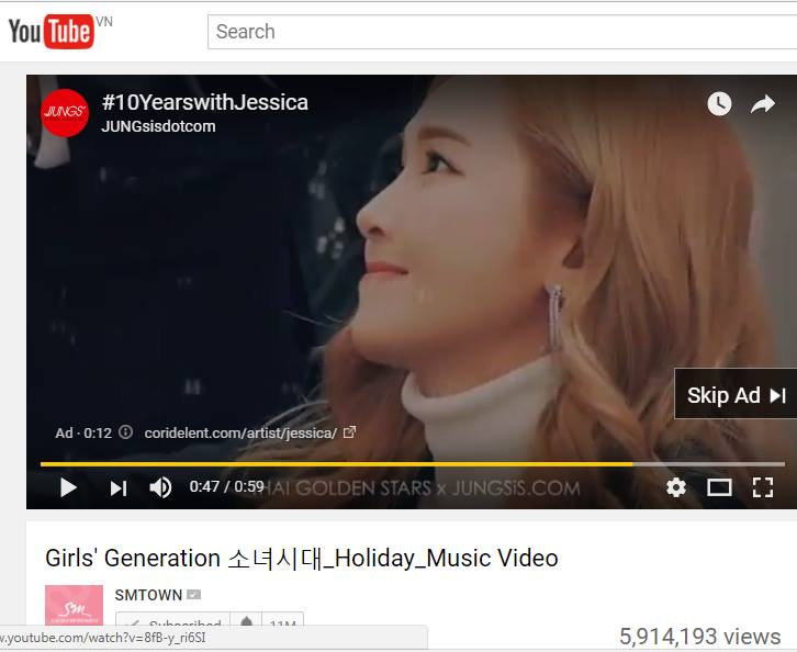 Jessica Video Ads Made By Fansite Run On Youtube Before Snsd S Comeback Music Videos Asian Junkie