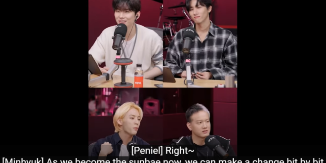 BTOB's Minhyuk & Peniel talk to MONSTA X's I.M & Kihyun on 'Midnight Idol' about wanting to change the culture around greetings